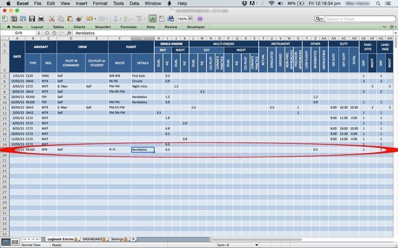 excel pilot logbook dgca v3.1 free download