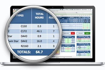 Excel CAA Pilot logbook