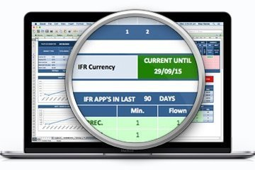 Excel Pilot Logbook IFR Currency