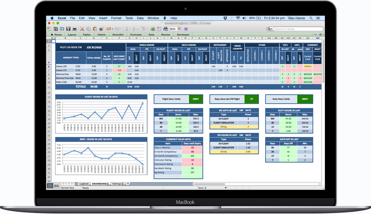 EASA-Europe-Excel-Pilot-Logbook-Dashboard