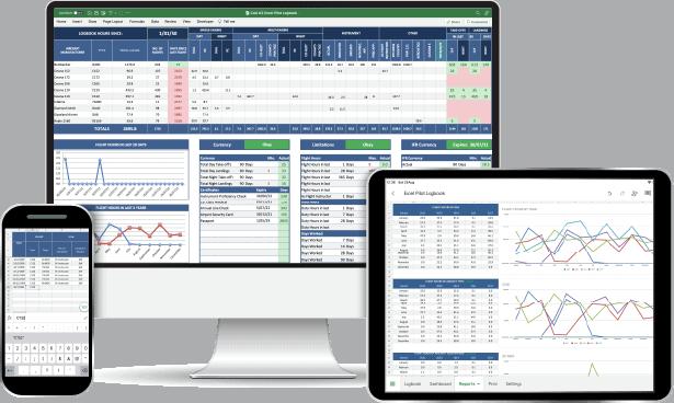 Hong Kong CAD Excel Pilot Logbook